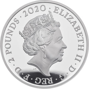 2020 UK £2 James Bond 1oz Silver Proof Collection