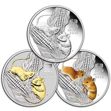 2020 Year of the Mouse 1oz Silver Trio