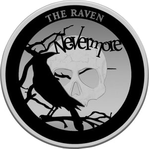 2020 Niue $5 Spooky Stories - The Raven 2oz Silver Proof