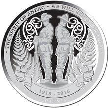 2015 NZ 50c 1915 Spirit of ANZAC 1oz Silver Proof Coin