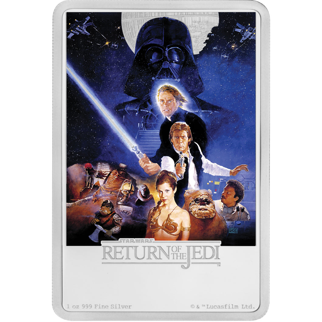 2017 Star Wars: Return Of The Jedi Silver Coin