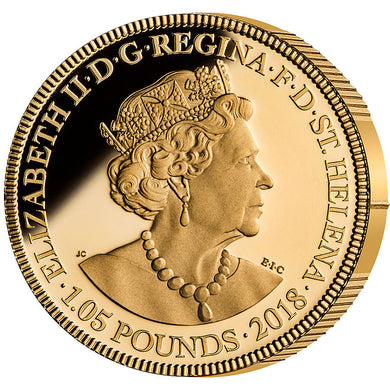 2018 St Helena £1.05 Sapphire Jubilee Gold Proof Guinea 3 Coin Set