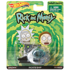 Hot Wheels Entertainment - Rick & Morty Spaceship Die Cast Collectable Car