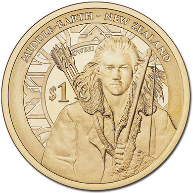 2013 NZ $1 The Hobbit: Desolation of Smaug BU Coin