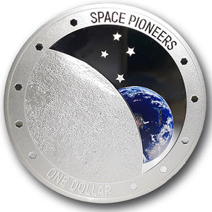 2019 NZ $1 Space Pioneers 1oz Silver Proof