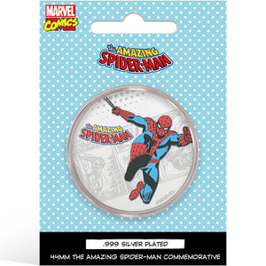 Marvel Spiderman Silver Plated Collector Medal