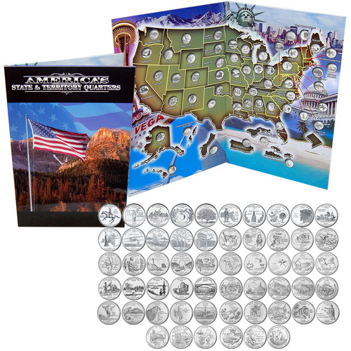 1999-2009 USA State & Territory Quarters Collection Unc