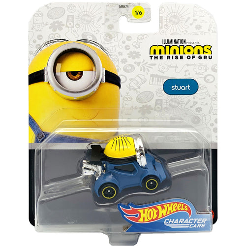 Hot Wheels Minions Character - Stuart Die Cast Car