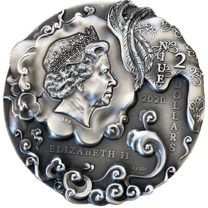 2020 Niue $2 Journey to the West - Sun Wukong 2oz Silver Coin