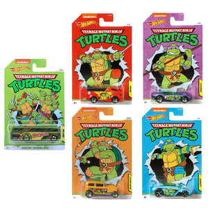Hot Wheels TMNT Die Cast Car Set of 5