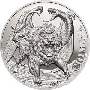 2018 Cook Isl. $10 Chimera Silver Proof Coin