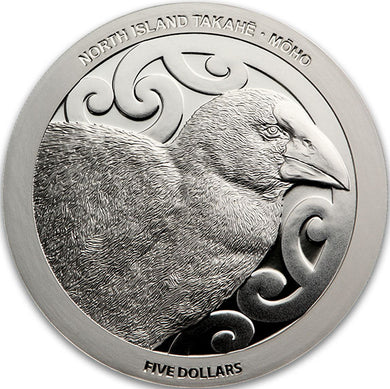 2019 NZ $5 North Island Takahe 1oz silver proof