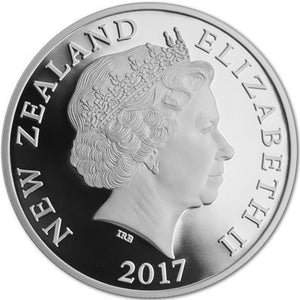 2017 NZ $1 Taniwha 1oz Silver proof coin