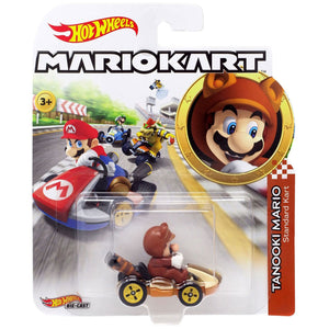 Hot Wheels Mario Kart - Tanooki Mario Die Cast Collectable Car