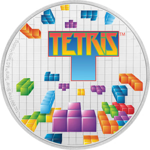 2019 Niue $2 Tetris 35th Anniv. 1oz Silver Proof