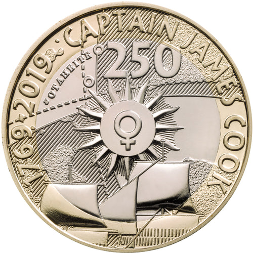 2019 UK £2 Captain Cook BU