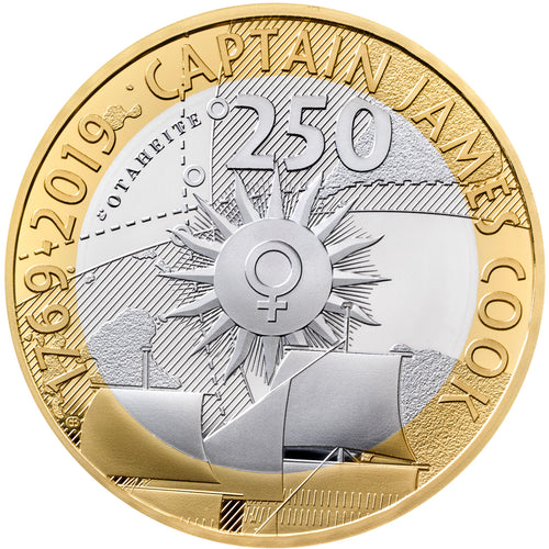 2019 UK £2 Captain Cook Silver Proof