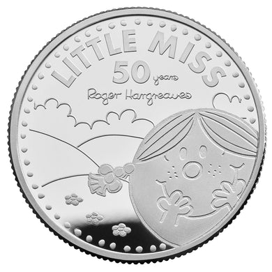 2021 UK £1 Mr Men - Little Miss Sunshine 1/2oz Silver Proof w/FREE Book