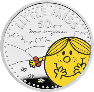 2021 UK £2 Mr Men - Little Miss Sunshine 1oz Silver Proof w/FREE Book