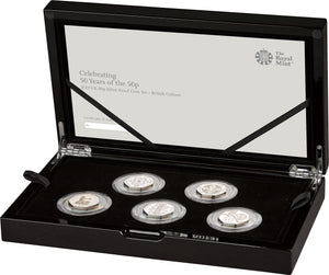 2019 UK 50p 50th Anniversary Silver Proof Set