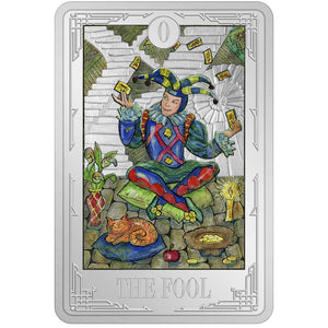 2021 Niue $2 Tarot Cards - The Fool 1oz Silver Coin
