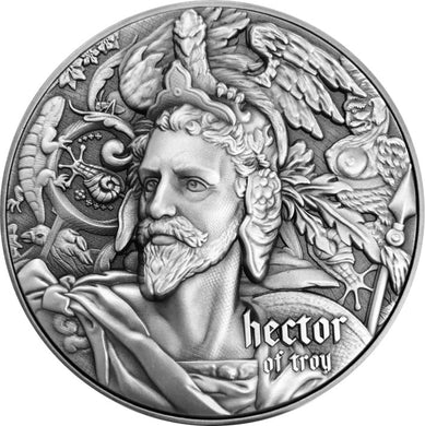 2019 Niue $5 Nine Worthies - Hector of Troy 2oz Silver Coin