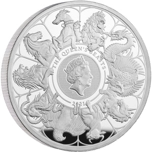 2021 UK £10 Queens Beasts - Completer 5oz Silver Proof