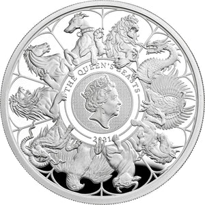 2021 UK £2 Queens Beasts - Completer 1oz Silver Proof