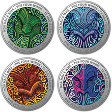 2020 NZ $1 Nga Hau e Wha - The Four Winds 1/2oz Silver Proof Coin Set