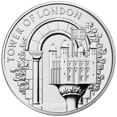 2020 UK £5 Tower of London - White Tower BU Coin