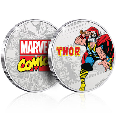 Marvel Thor Silver Plated Collector Medal - no packaging, capsule only.