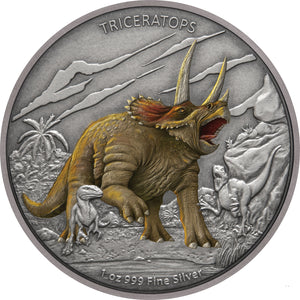 2020 Niue $2 Triceratops 1oz Silver Proof