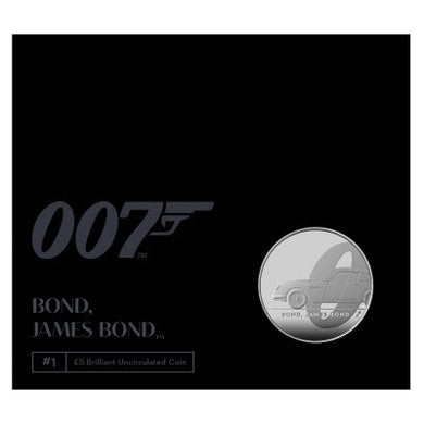 2020 UK £5 James Bond BU Coin