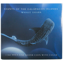 2021 Solomon Isl. $2 Galapagos Giants - Whale Shark 1oz Silver Proof