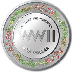 2020 NZ $1 End of WWII 2oz Silver Proof