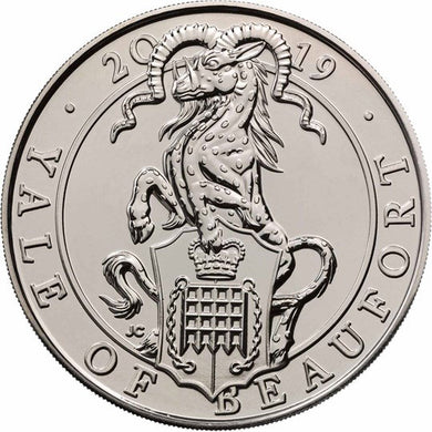 2019 UK £5 Queen's Beasts - Yale of Beaufort CuNi BU