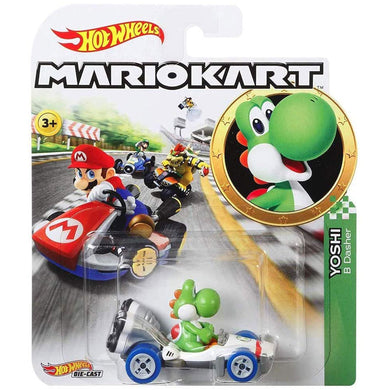 Hot Wheels Mario Kart - Yoshi Die Cast Collectable Car