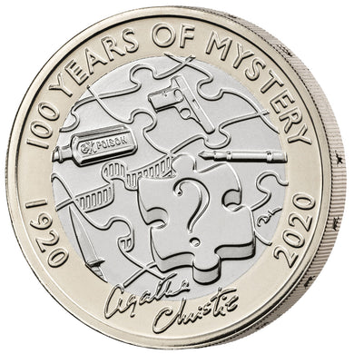 2020 UK £2 Agatha Christie BU
