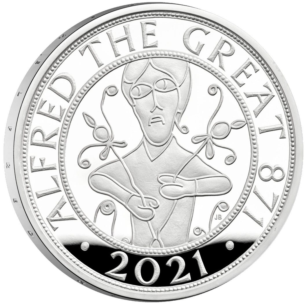 2021 UK £5 Alfred the Great 1oz Silver Proof