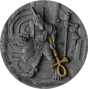 2019 Niue $2 Gods of Anger - Anubis 2oz Silver Coin