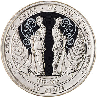 2015 NZ 50c Spirit of ANZAC Unc