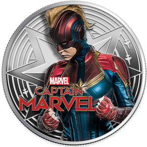 2019 Fiji $1 Captain Marvel 1oz Silver Proof