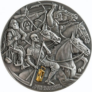 2019 Cameroon 3,000Fr Four Horsemen of the Apocalypse 3oz Silver Coin