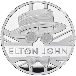 2020 UK £5 Music Legends - Elton John 2oz Silver Proof