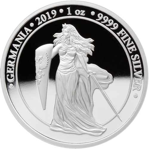 2019 'Germania' 5 Mark 1oz Silver Proof Coin