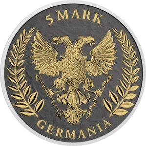 2019 'Germania' 5 Mark 6 Metals 1oz Silver