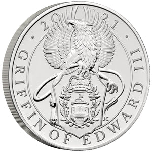 2021 UK £5 Queen's Beasts Griffin of Edward III BU