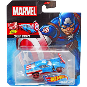 Hot Wheels Marvel Character - Captain America Die Cast Collectable Car