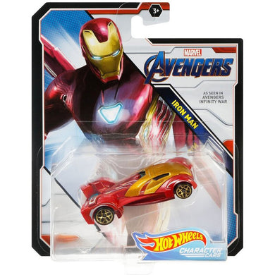 Hot Wheels Marvel Character - Ironman Die Cast Collectable Car