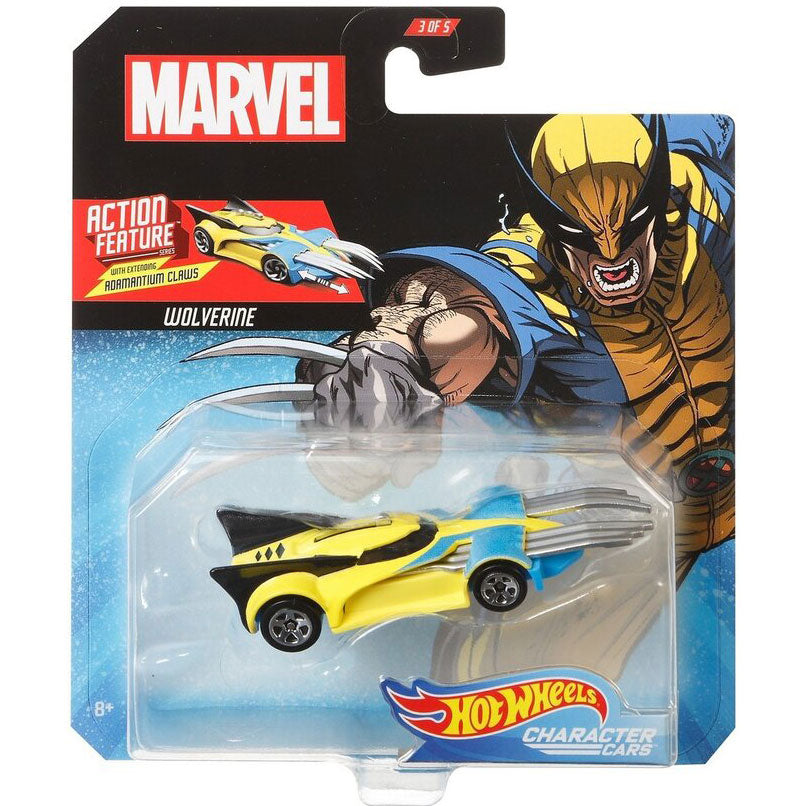 Hot Wheels Marvel Character - Wolverine Die Cast Collectable Car